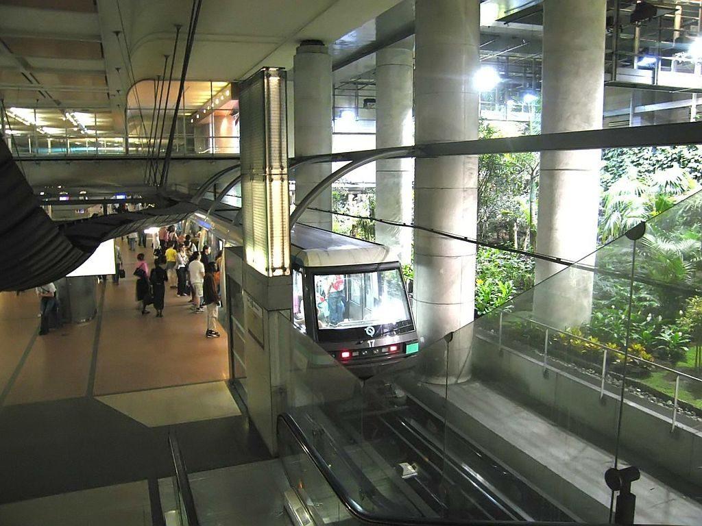 A driverless metro train